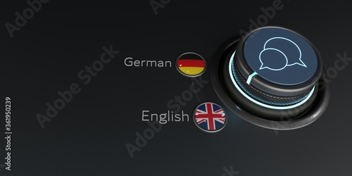 Fotografía Translator Rotary Knob English German