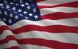 United States of America Flag, Floating Fabric Flag, United States of America, 3D Render