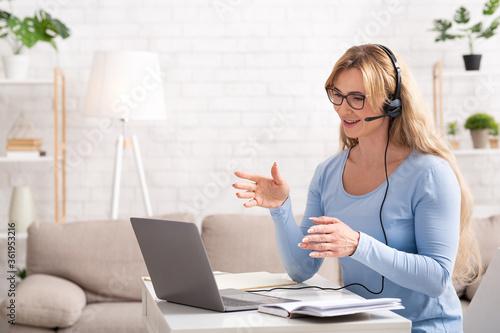 Fototapeta Business video call