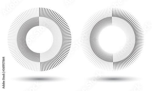 Fotografía Radial lines in circle form, logo icon