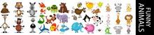 Funny Animal Character Set