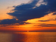 Sunset View From Makuhari Beach Chiba,Japan