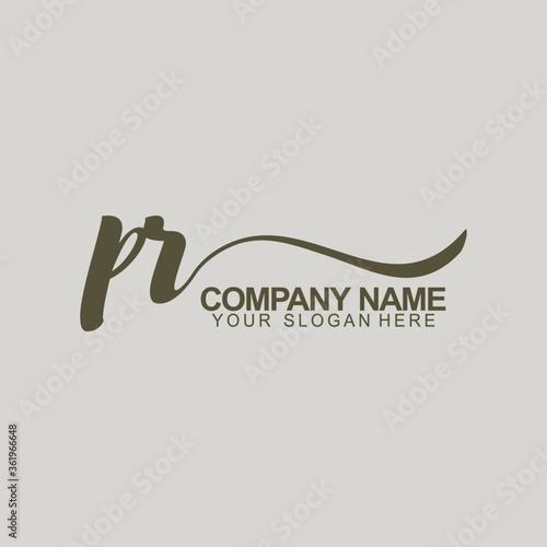 Fotografía PR Initial Logo Monogram Template Design
