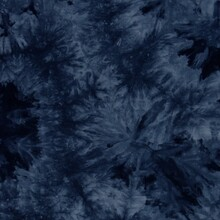 Batik Style Wallpaper Texture In Denim Blue