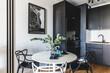 Leinwanddruck Bild - Kitchen in a modern studio apartment for rent. Interior design.