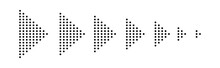 Set Of Dotted Arrows - Vector.