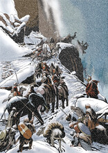 Hannibal Crosses The Alps With Elephants During A Snowstorm During The Second Punic War