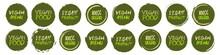 Vegan Logo Collection. Set Of ...