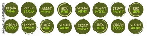 Vegan logo collection Tableau sur Toile