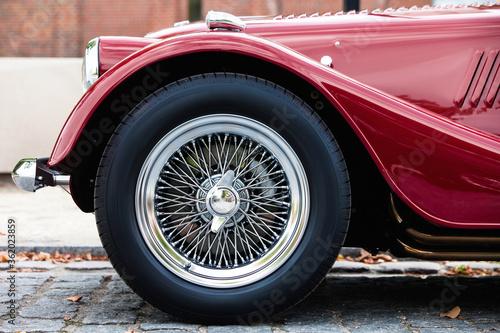 Elegant Vintage Retro Car. Old School Revival Auto  - fototapety na wymiar