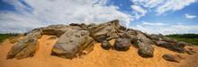 Huge Heap Of Stones Among A Sa...