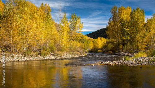 The Big Wood River near Ketchum, Idaho Canvas-taulu