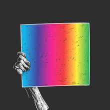 Hand Holding LGBT Gay Pride Ba...