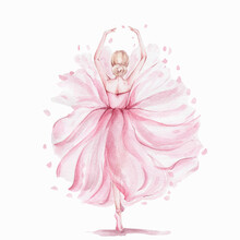 Pink Pretty Ballerina; Waterco...