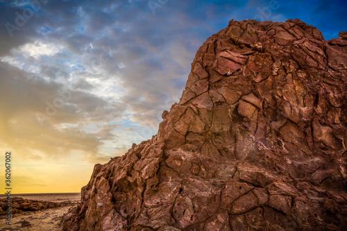 Danakil depression salt mountains Canvas Print