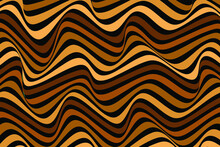 Abstract Dark Brown Pattern In Op Art Style. Modern Concepts For Your Design.