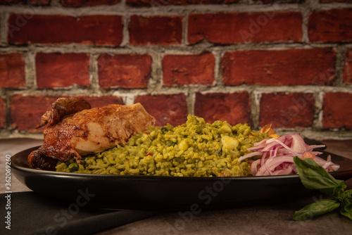 arroz con pollo peruano Canvas Print