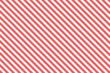 Red And White Diagonal Stripes...