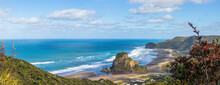 Piha Beach And Lion Rock Aeria...