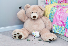 Large Stuffed Teddy Bear Is  ...