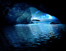 The Cave Is Flooded With Water...