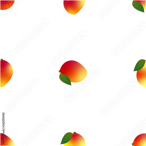 Obraz Mango. Seamless Vector Patterns  - fototapety do salonu