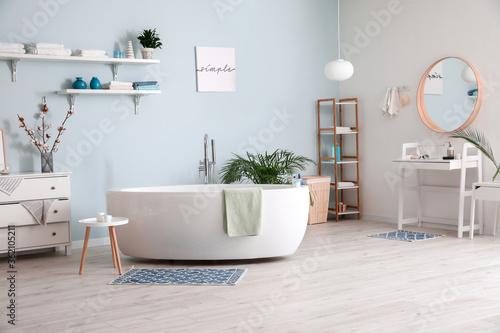 Stylish interior of modern bathroom Fototapet