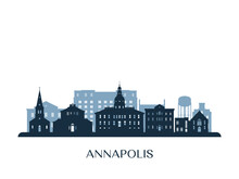 Annapolis Skyline, Monochrome ...