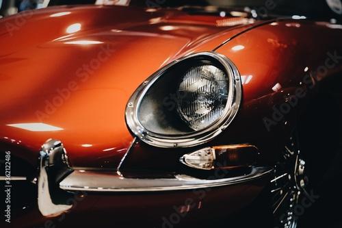 Fototapeta Klasyczny, czerwony samochód obraz