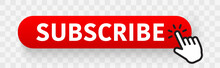 Subscribe Red Button With Hand...