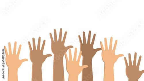 Obraz na plátně up hands. illustration on white background