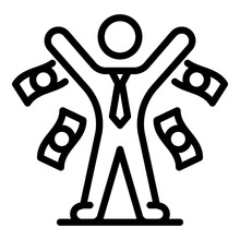 Market Broker Icon. Outline Ma...