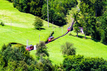 Swiss Alpine Cog Railway Train...