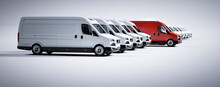 Red Commercial Van And Fleet O...