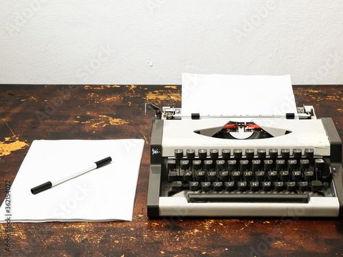 Fototapeta Vintage Travel Typewriter