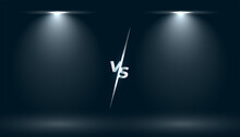 Versus Vs Screen With Two Focus Light Effect