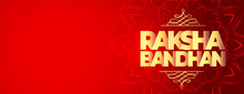 Happy Raksha Bandhan Red Wide ...