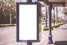 Large Blank Billboard At The B...