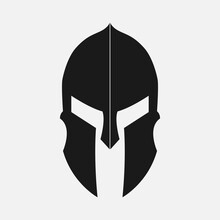 Black Spartan Helmet Icon And ...