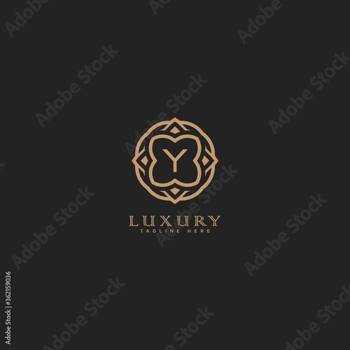 Creative letter Y logo icon design for Luxury, Restaurant, Royalty, Boutique, Ca Canvas Print