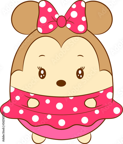 cute Minnie mouse drawing Canvas Print