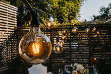 Light Bulbs Outdoors At A Part...