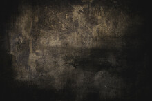 Dark Grungy Golden Wall Backgr...