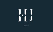 Alphabet Letter Icon Logo HJ