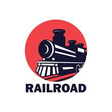 Train Railway Logo Isolated On...