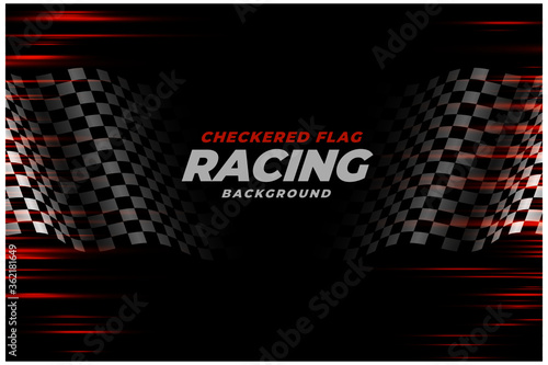 checkered racing flag speed background design Fotobehang