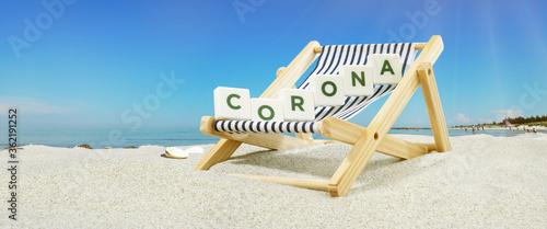 Urlaub am Meer, Sonnenliege - Corona