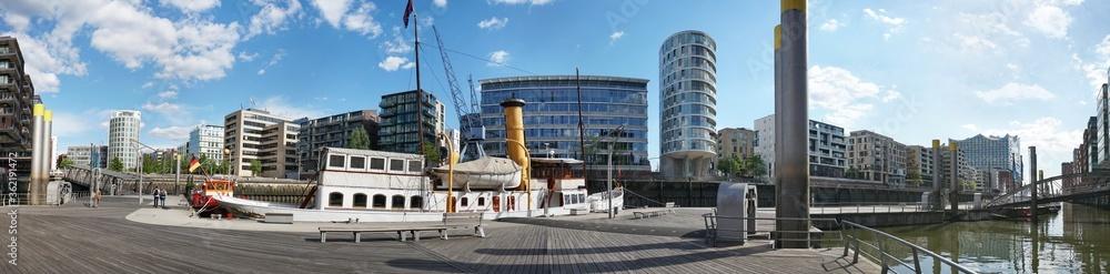 Fototapeta Sandtorkai at Hafencity in Hamburg - Public Building