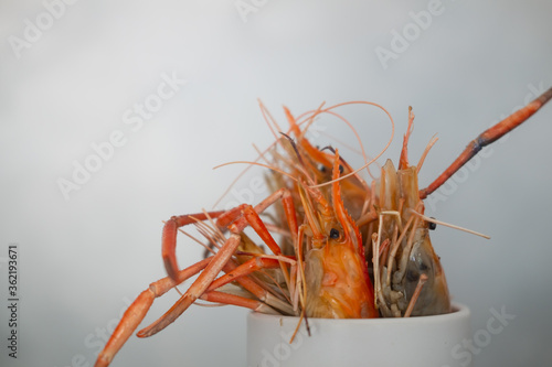Fototapety, obrazy: Grilled river shrimp or Thai shrimp