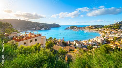 Beautiful harbour of Port de Soller, Mallorca, Balearic Islands, Spain #362200472